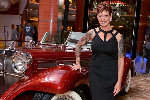 Kelly MacLeod with Classic Mercedes-Benz